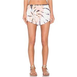Blue Life Beach Bunny Shorts Volcano Tie Dye XS